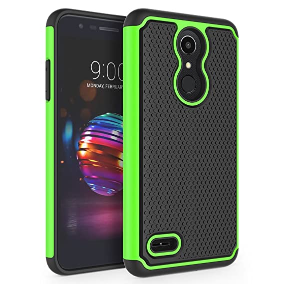 best service 75557 00eb7 LG K10 2018 Case, LG K30 Case, LG Premier Pro LTE Case, LG K10 Alpha Case,  SYONER [Shockproof] Defender Phone Case Cover [Green]
