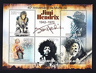 Jimi Hendrix Music Icon Collectible Postage Stamps GB10302a