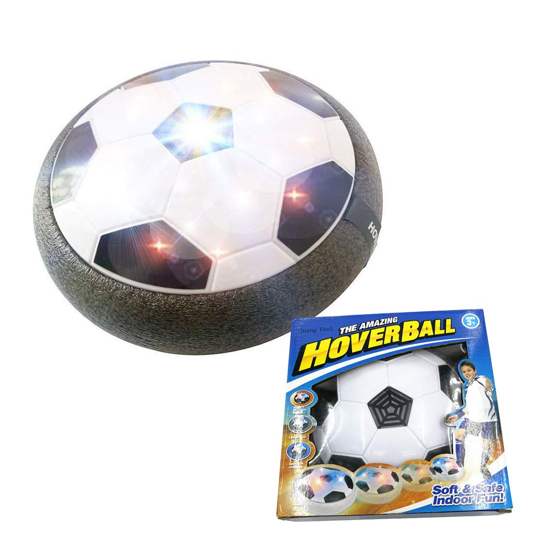 Air電源Hoverボール、子供おもちゃ、休日ギフト、空圧Suspended Football with Foamバンパー、LEDライトfor Boys Girls Sport子供おもちゃトレーニングFootball andインドアアウトドアまたはチームゲーム B078PHLN31