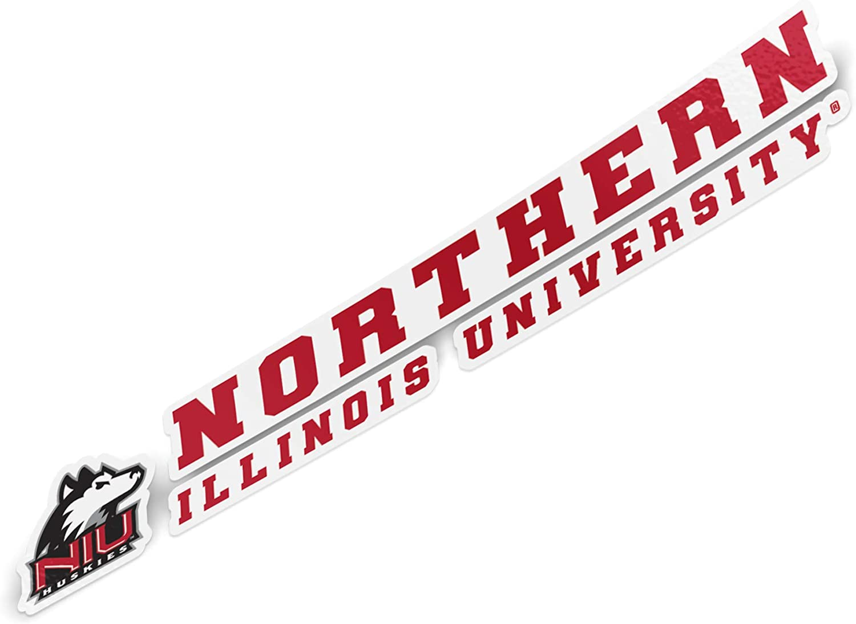Northern Illinois University NIU Huskies NCAA Name Logo Vinyl Decal Laptop Water Bottle Car Scrapbook (8 Inch Sticker)