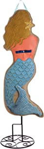 Evergreen Mermaids Welcome Lighted Outdoor Safe Fabric Garden Stake, 36 inches