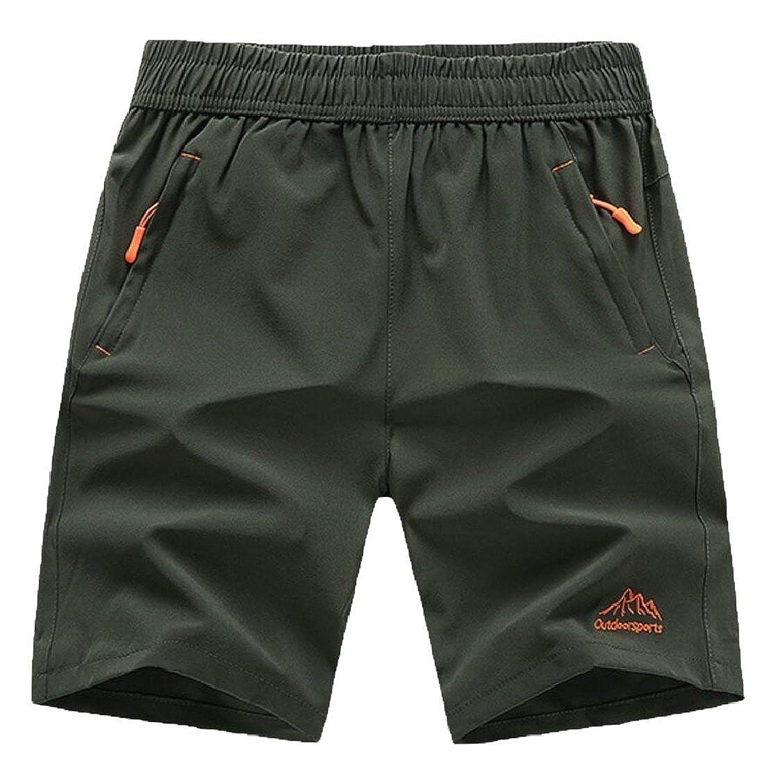 Gocgt Mens Summer Outdoor Quick Dry Sports Shorts with Zipper Pockets Short Pants
