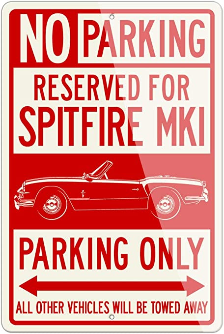 /'TRIUMPH SPITFIRE sign//ad Just for the Fun of IT RETRO METAL PLAQUE
