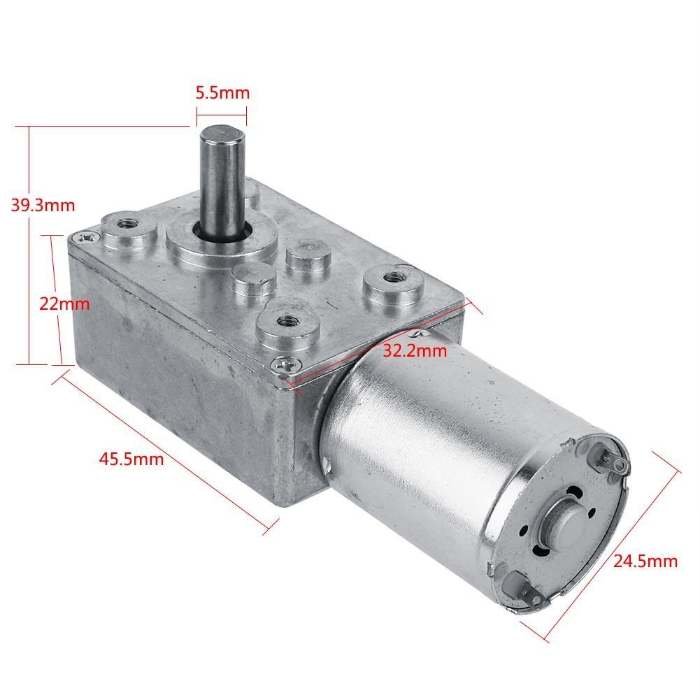 Motorreductor de tornillo sinf/ín de alto par reversible Akozon Motorreductor 40RPM Motor de reducci/ón CC 12V CW//CCW