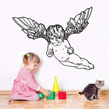 Mbambm Decoración Casera Linda Flying Cherub Wings Angel Tatuajes ...