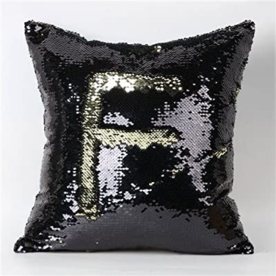 FairyTeller Double Color Glitter Sequins Throw Pillow Case Cafe Home Decor Cushion Covers Capa De Almofada Quality First
