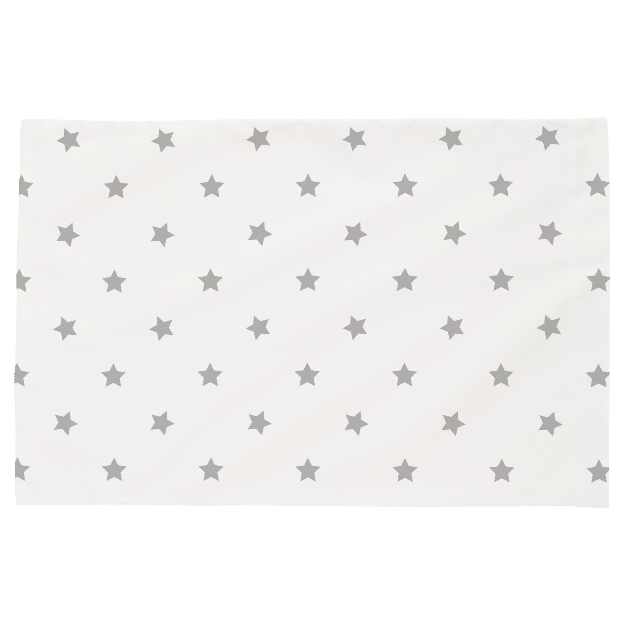 Carousel Designs Silver Gray Stars Toddler Bed Pillow Case