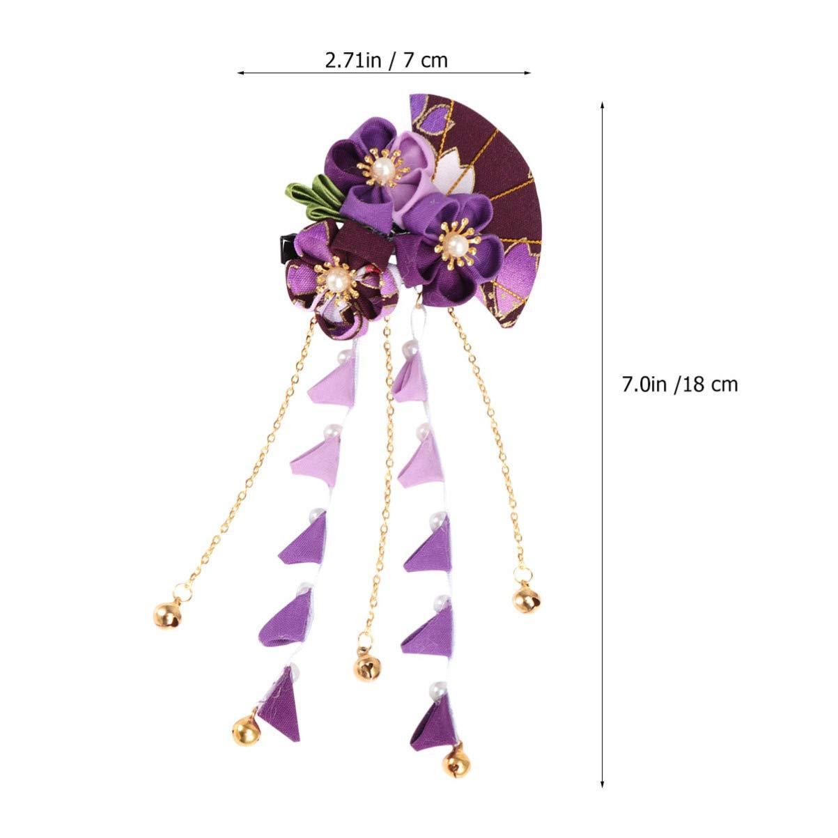 Cream White Kimono Barrette 60mm Barrette Japanese Fabric Hair Clip