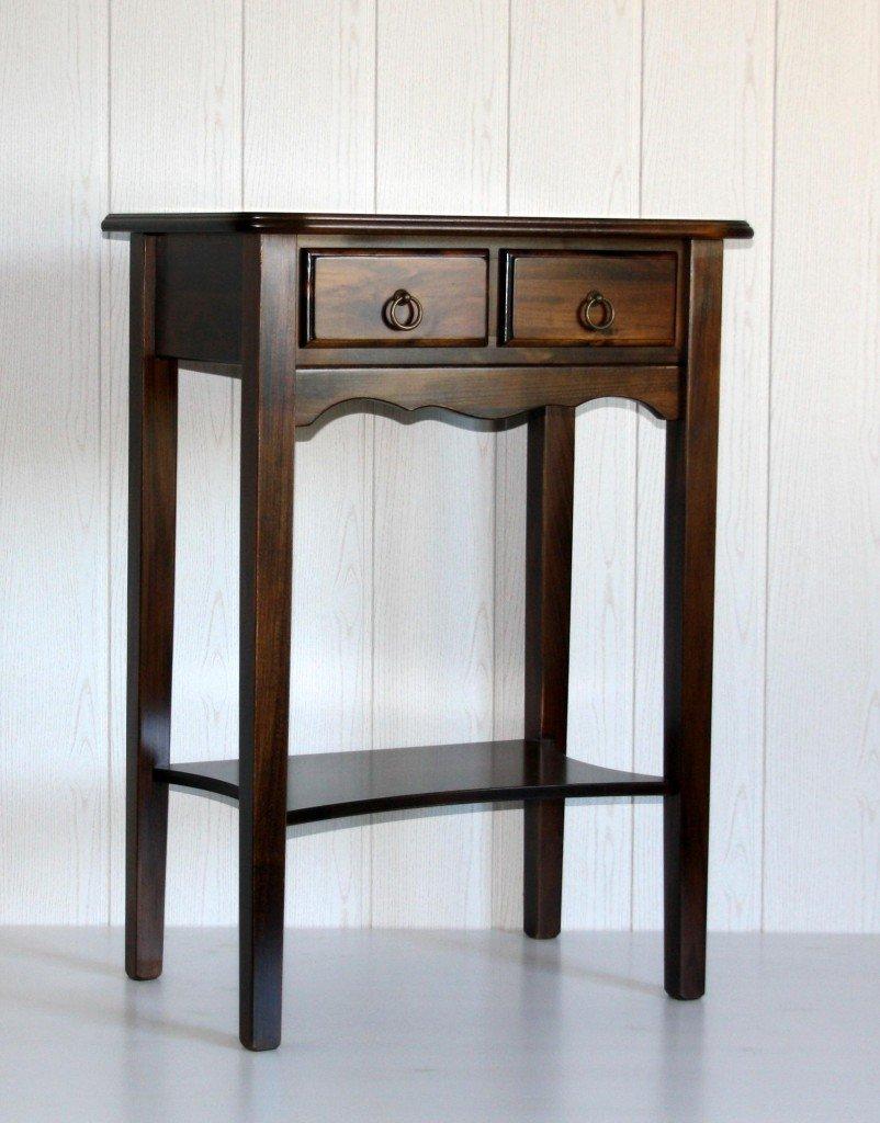 Massivholz Konsolentisch Wandtisch Beistelltisch 80x57 Holz massiv kolonial