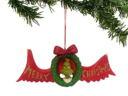 how the grinch stold christmas grinch merry christmas ornament retired 809389 - Grinch Christmas Decorations Amazon