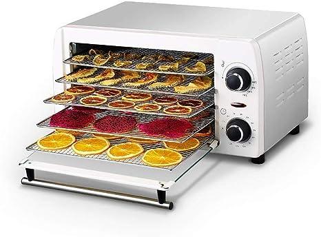 Opinión sobre L.TSA Deshidratador de Alimentos Deshidratador de Alimentos, Temporizador de Temperatura Ajustable Bandeja de Acero Inoxidable de 5 Capas Secadora doméstica para Carnes procesadas Frescas FR