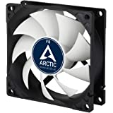 ARCTIC F8-80 mm Standard Case Fan, Very Quite Motor, Computer, Push- or Pull Configuration, Fan Speed: 2000 RPM - Black/White