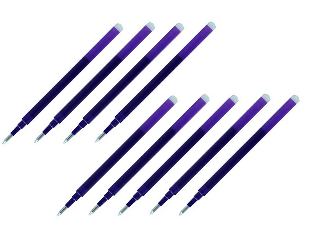 Fine Point 0.7mm Violet Ink Pilot Gel Ink Refills for FriXion Erasable Gel Ink Pen Pack of 9