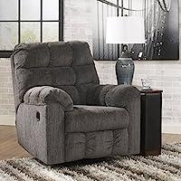 Ashley Furniture Signature Design - Acieona Recliner - Swivel Rocker - Pull Tab Manual Reclining - Slate