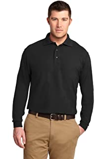 a2c1476c56 Port Authority Men's Silk Touch Performance Long Sleeve Polo at ...