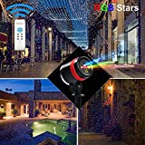 Anxingo 3 Colors Laser Lights Landscape Outdoor Waterproof Laser Lamp for Outdoor Garden/Yard/Wall Party Christmas Holiday Decoration Red & Green & Blue
