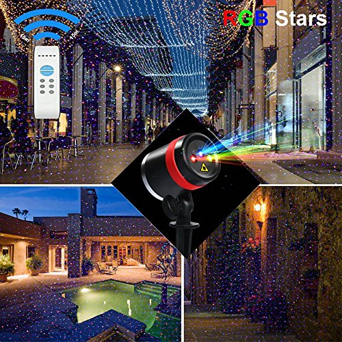 Anxingo 3 Colors Laser Lights Landscape Outdoor Waterproof Laser Lamp for Outdoor Garden/Yard/Wall Party Christmas Holiday Decoration Red & Green & Blue by Anxingo