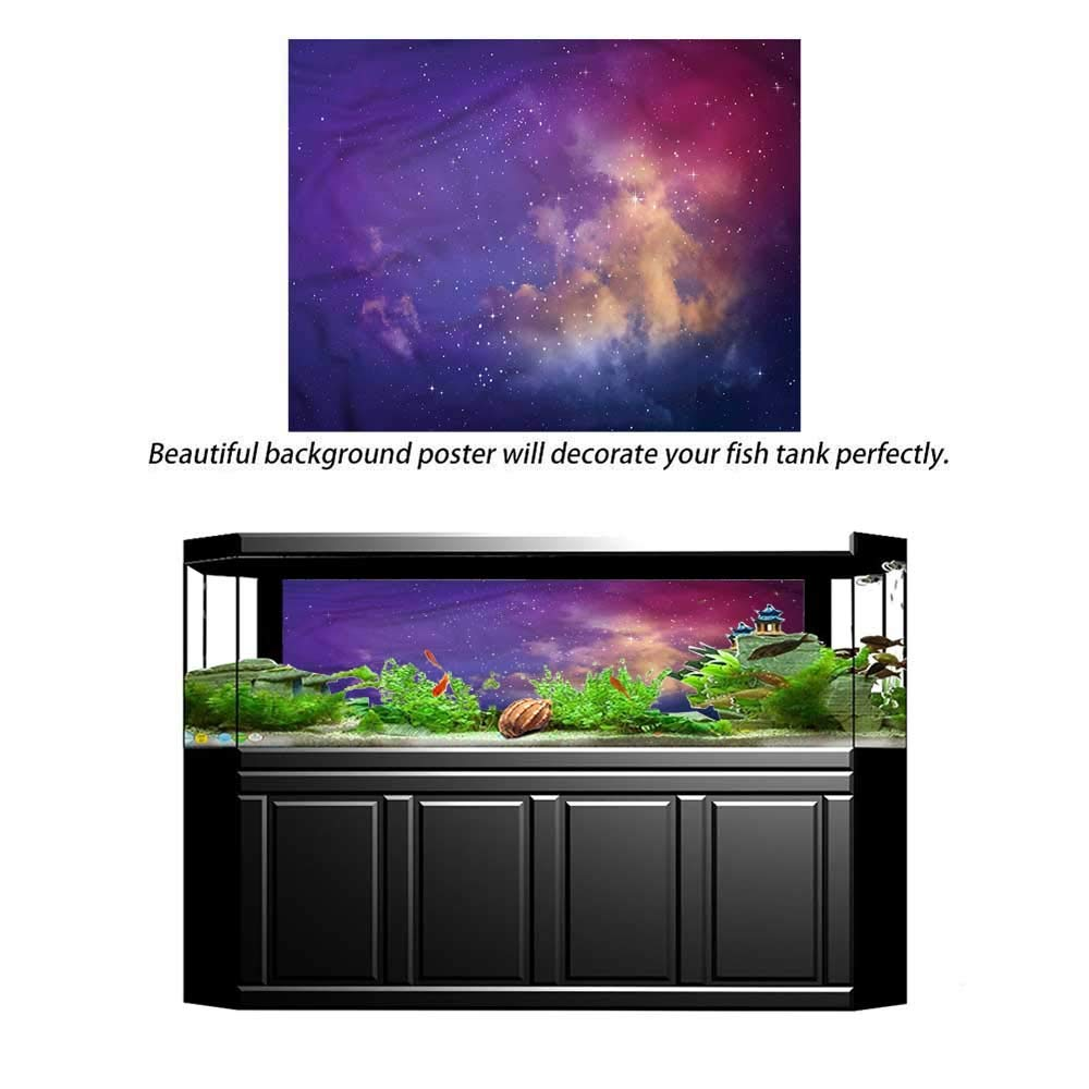 Suchashome Fish Tank Backdrop Outer Space,Astronaut from Earth,Aquarium Background Thermometer Sticker