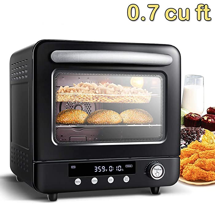 Air Oven 21QT, Air Fryer xl, AAOBOSI 12-in-1 Programmable Air Fryer Oven
