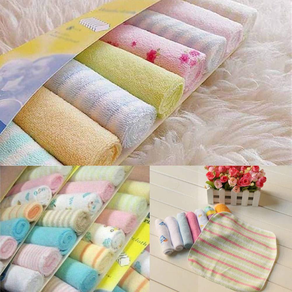 8 Pack Baby Waschlappen Weiche Pfleget/ücher Musselin Waschlappen Set Medizinischer Baumwolle Baby L/ätzchen Taschentuch Handtuch Waschlappen