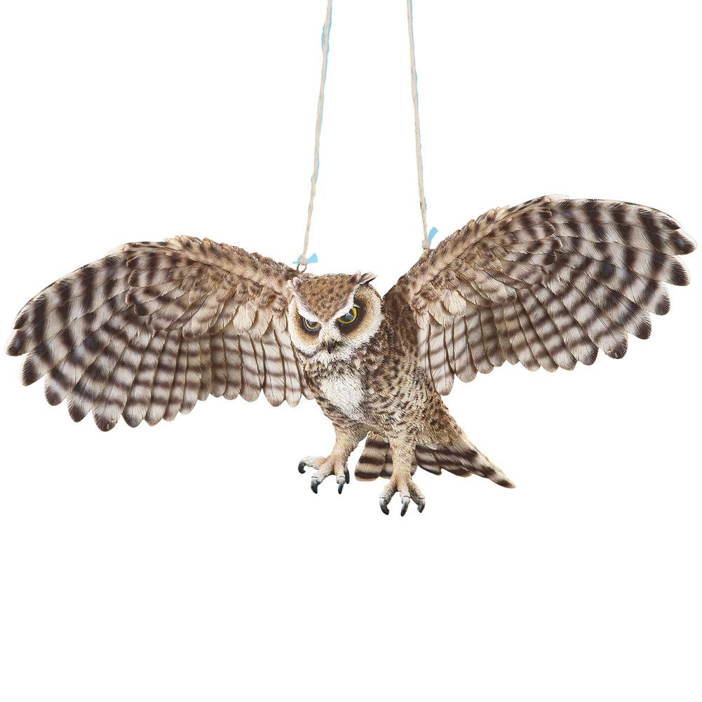 Collections Etc Outdoor Swinging Owl in Flight