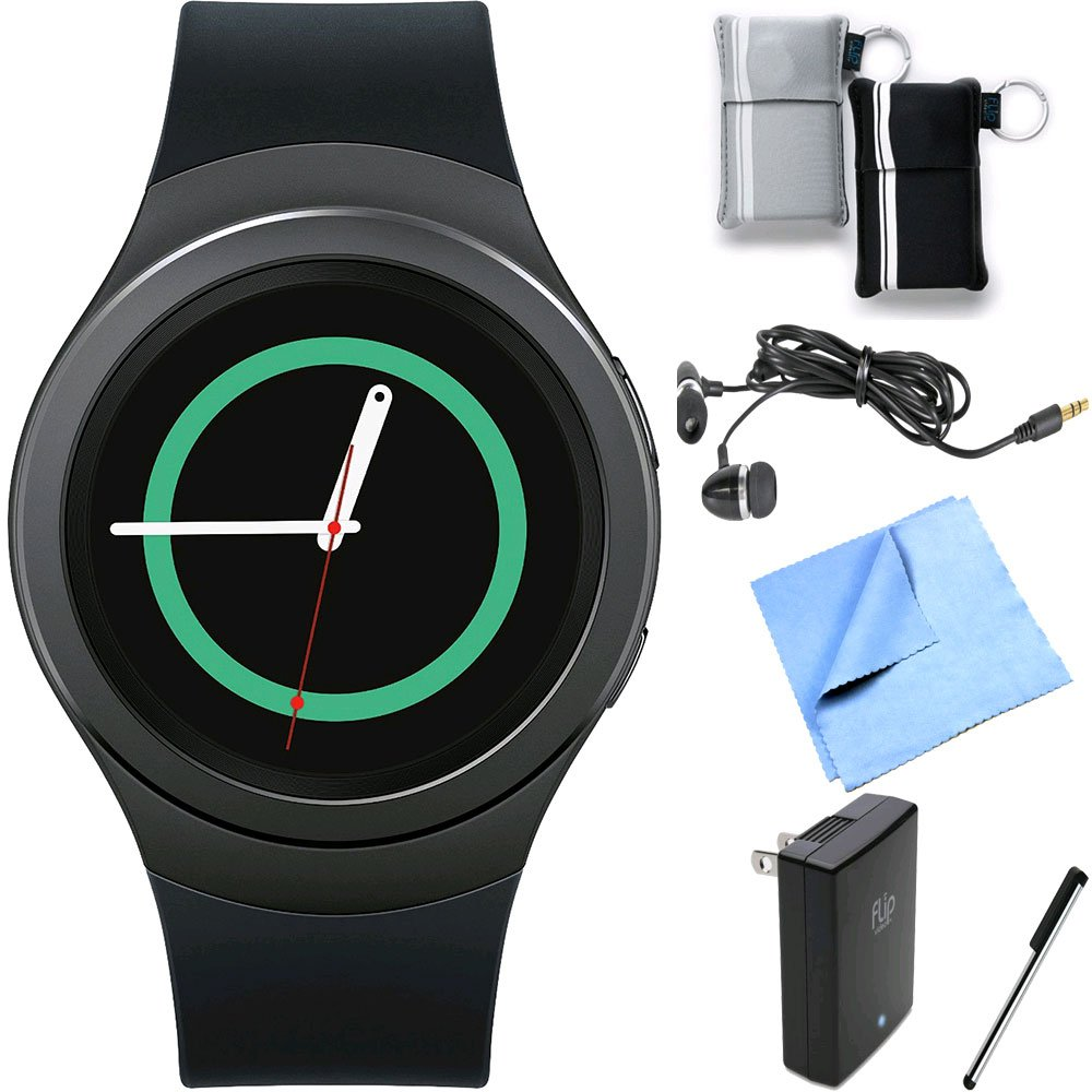 Samsung Gear S2 Smartwatch for Android Phones Essentials Bundle (Black Essentials Bundle) by Samsung