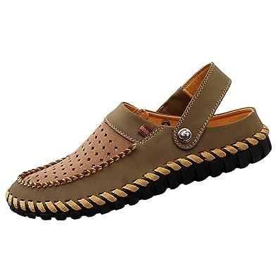 YiLianDa Zapatos Casuales Mocasines Cómodos Antideslizantes para Hombre Khaki 39: Amazon.es: Zapatos y complementos