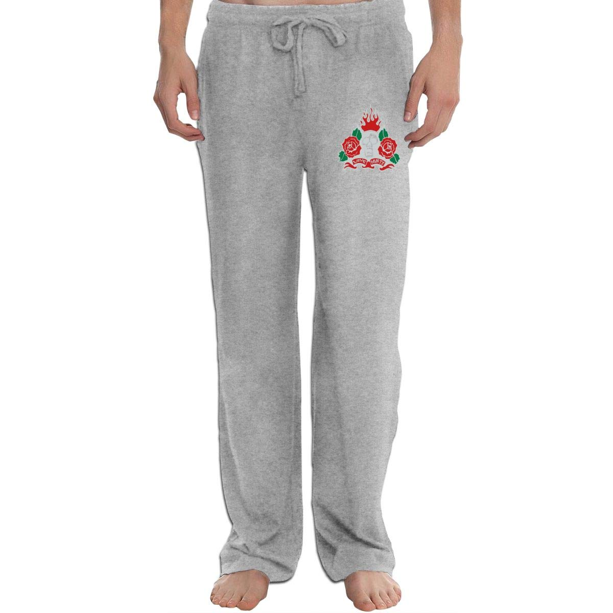 Love Hurts Mens Sweatpants Extra Long CottonSleep Pants for Mans