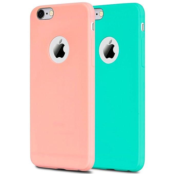 1 opinioni per 2x Custodia iPhone 6 Silicone, iPhone 6s Cover Anfire Molle Flessibile Gel TPU