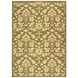 Safavieh Courtyard Collection CY3416-1E06 Olive and Natural Indoor/Outdoor Area Rug, 9 Feet by 12 Feet