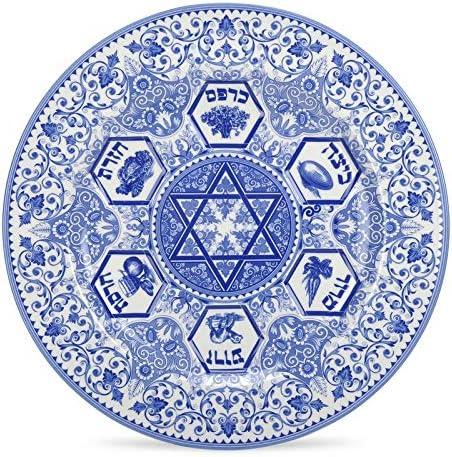 Spode Judaica Seder Teller Wei/ß Blau