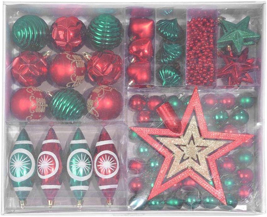 Xuebai 1 Caja Bolas de Navidad Juego de Estrellas Adornos para /árboles de Navidad Colgantes inastillables Boda Azul