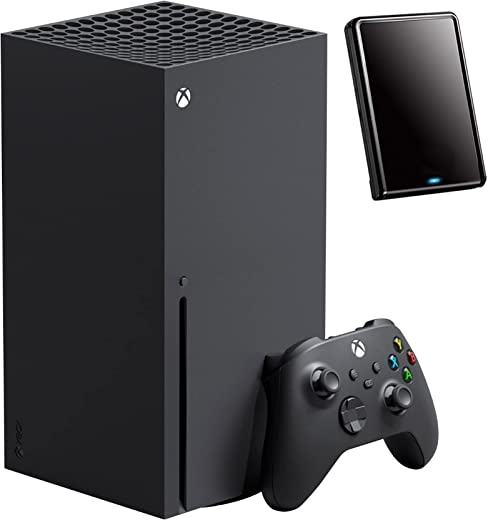 Microsoft Xbox Series X 1TB SSD Video Game Console + 1 Xbox Wireless Controller, Black - 8X Cores Zen 2 CPU, RDNA 2 GPU, 16GB GDDR6, True 4K Gaming, 8K HDR - iPuzzle 320GB External HD