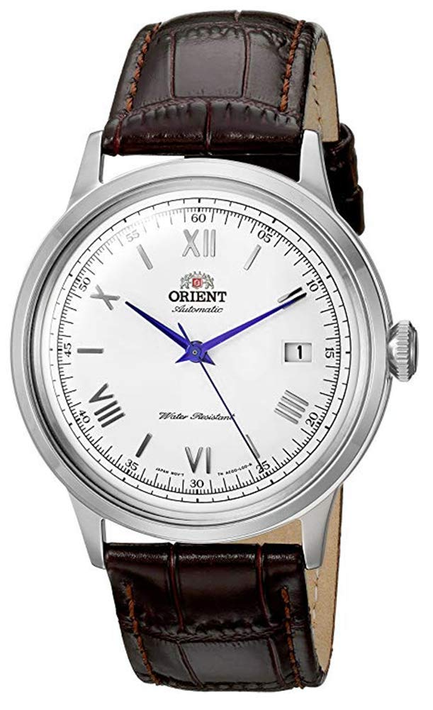 Orient Men's 2nd Gen. Bambino Ver. 2 Stainless Steel Japanese-Automatic Watch with Leather Strap, Brown, 21 (Model: FAC00009W0) by Orient