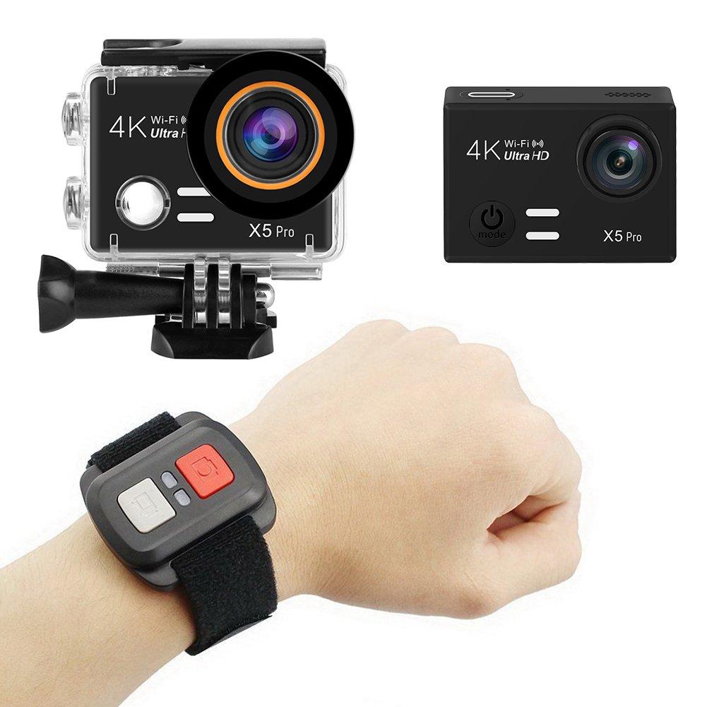 Beimaji Trade 4 K Sport Action Kamera 2H Akku Life Wasserdicht Wifi-Fernbedienung Sport Action Kamera mit Fernbedienung