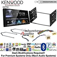Volunteer Audio Kenwood DMX7704S Double Din Radio Install Kit with Apple CarPlay Android Auto Bluetooth Fits 2001-2004 Escape, 2000-2004 Excursion, 1999-2004 F-150, 2001-2003 Mustang