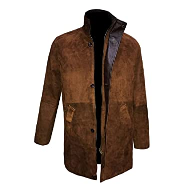3d29d3a80 SALTONI Mens Longmire Robert Taylor Suede Leather Coat Jacket at ...