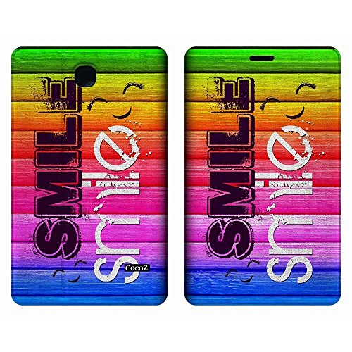 Galaxy Tab 3 7.0 SM-T210 Case CocoZ Rainbow Smile Case Stand Case Cover for Samsung Galaxy Tab 3 7.0 SM-T210/SM-T217 With Automatic Wake/Sleep Function (FOLLOW THE SKY) (Rainbow)