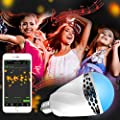 Smart Lamp Bulb, ALECTIDE LED Bluetooth Light Bulb, Music Light Bulb - Dimmable Light with Speakers Modern Auto Changing RGB Colors Light for Home, Stage, Party Decoration, the Best Gifts for Kids