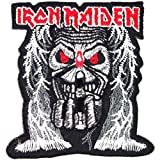 : IRON MAIDEN Heavy Metal Rock Music Band Iron On Patches # WITH FREE GIFT