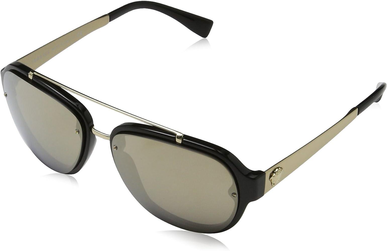 Versace 0Ve4327 Gafas de Sol, Black, 57 para Hombre: Amazon ...