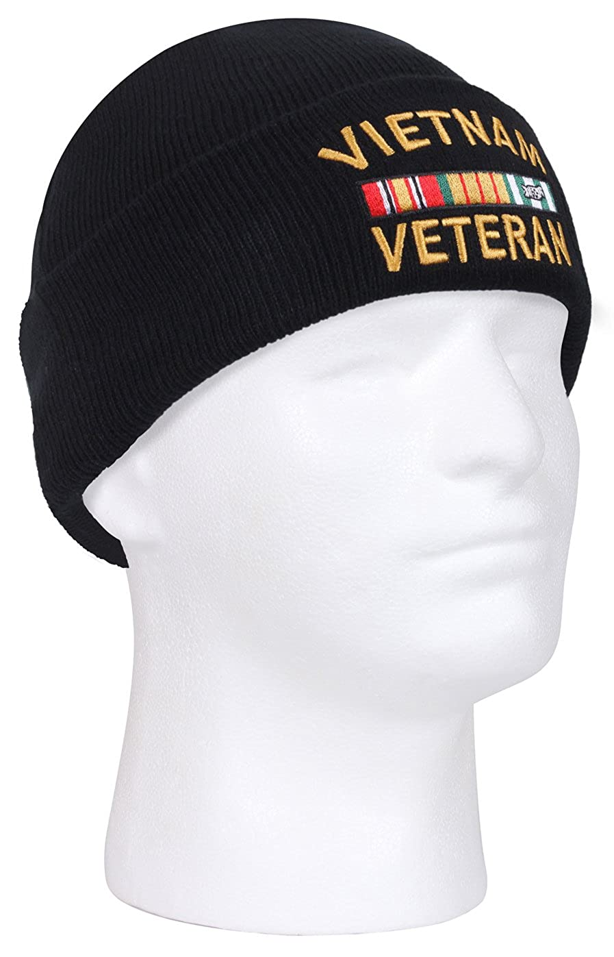 0e8fc67280a Amazon.com  Rothco Vietnam Veteran Deluxe Embroidered Watch Cap  Clothing