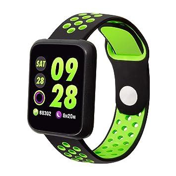 Colmi Sport3 Reloj Inteligente Hombres presión Arterial IP68 Impermeable Reloj rastreador de Ejercicios Smartwatch para Dispositivos usables Android iOS: ...
