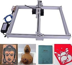 DIY CNC Engraver Kits Wood Carving Engraving Cutting Machine Desktop Printer Logo Picture Marking, 40x50cm,2 Axis (2500MW)