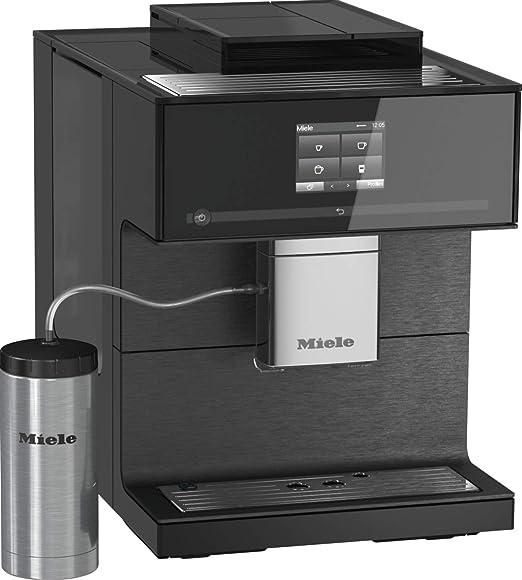Miele 10947420 CM 7550 CoffeeSelect través de smartphone con WiFiConn@ct, judías, cafetera con descalcificación automática y calentador de tazas, 1 cups, Negro + 3 recipientes para granos: Amazon.es: Hogar