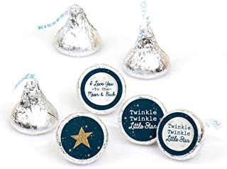 product image for Twinkle Twinkle Little Star - Baby Shower or Birthday Party Round Candy Sticker Favors - Labels Fit Hershey's Kisses (1 Sheet of 108)