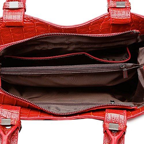 en Sac Cuir Sacs Noir Main Bandoulière A Main épaule Sac Sac Cuir Sacs KAXIDY Fabriqué à à portés Rouge portés Femme 07wU0ndW