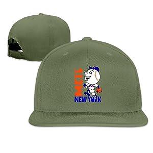 ElishaJ Adjustable New York Mascot Baseball Team Trucker Caps Hat ForestGreen