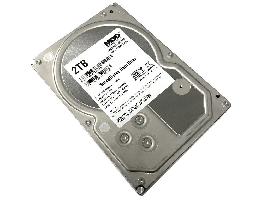 MaxDigitalData 2TB 32MB Cache 7200PM SATA 3.0Gb/s 3.5'' Internal Surveillance CCTV DVR Hard Drive (MD2000GSA3272DVR) - w/2 Year Warranty