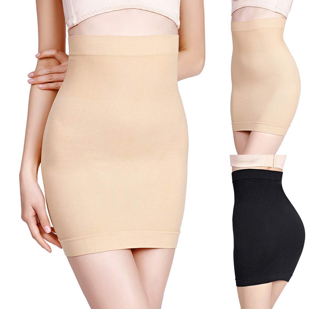 Shapewear For Women,waitFOR Ladies Solid Color Ultra-Thin High-Waisted Control Straightener Slim Body Shaper Dress,Body Sculpting Corset Postpartum Women Body-Shaping Underwear Skirts